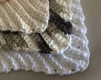 Crochet Washclothes 3pc Set