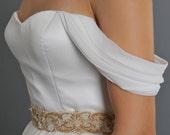 Bridal Separates - Honeysuckle Sleeves - Silk Detachable Bridal Sleeves - Mix and Match Wedding Dress - Custom Made