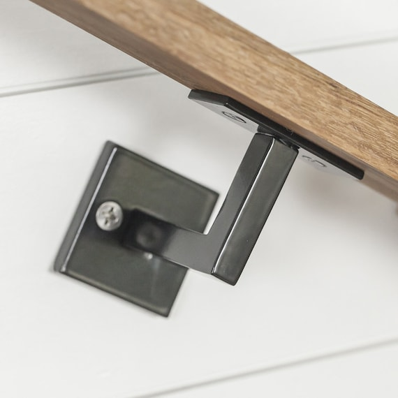 Minimal Handrail Bracket 1/2 Solid Steel Square Bar