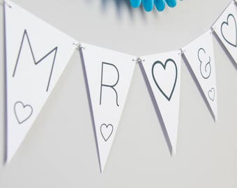 Mr & Mr Bunting // Mr  Mr Decoration // Mr  Mr // Mr  Mr Banner // Gay Wedding