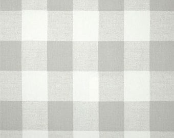 French Light Gray and White Buffalo Check Curtains, Rod Pocket 84 96 108 or 120 Long x 24 or 50 Wide,