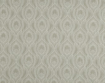 Gray and White Geometric Curtains, Alyssa Regal Slub Canvas Rod Pocket 63 72 84 90 96 108 or 120 Long by 24 or 50 Wide