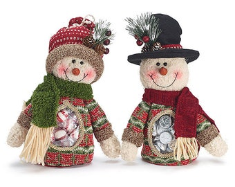 Snowman Candy Bags