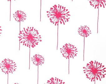 """Two  96""""L x 50""""W Custom  LINED  Curtain Panels  - Rod Pocket Panels -  Dandelion Candy Pink"""