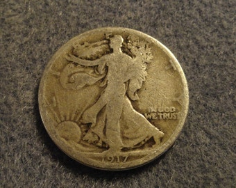 1917-S Walking Liberty SILVER Half Dollar