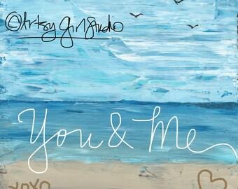 You and Me  8x8 Art Print