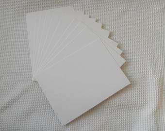 10 Mount Board Panels Pieces 21cm x 29.3cm Bevel edged Craft board Matting Art Frame watercolour SNow White Cream