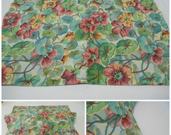 """Portfolio Textiles- Tapestry Fabric- Floral Upholstery Fabric- Tapestry Fabric - pc 24"""" w x 24"""" Long-Green-Berry-Red"""