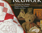 Teddy Bear Redwork, Embroidery Quilt PATTERN Book, Jan Rapacz, CT Publishing, Quiltsy Destash