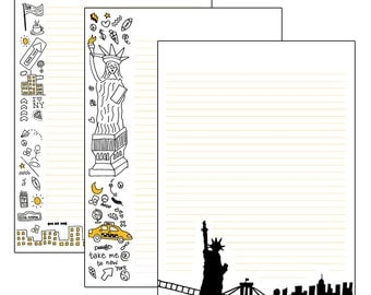 New York | Stationery -printable | by-laura