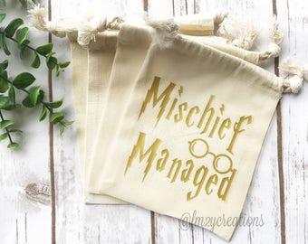 Mischief Managed |  Harry Potter Bachelorette | Harry Potter Birthday Favor Bag | Harry Potter Birthday Party | Bachelorette survival kit