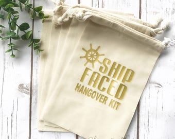 Let's Get Ship Faced Hangover Kit | Ship Faced | Nauti Bride | Survival Kit | Bachelorette Hangover Kit | Bachelorette survival kit