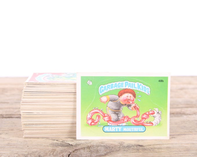 Lot of 139 Vintage 1985-1986 Garbage Pail Kids Cards / 1980s Collectibles / Stickers / 1980s Garbage Pail Kids Numbers 48b-282a / Gag Gift