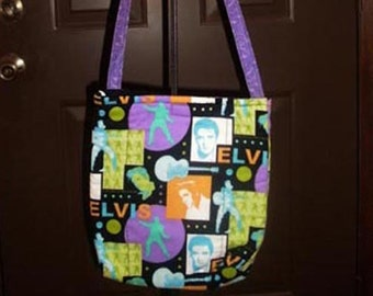 Elvis Fabric Quilted Crossbody Bag