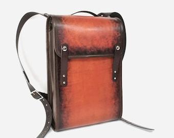 Medium Leather Backpack