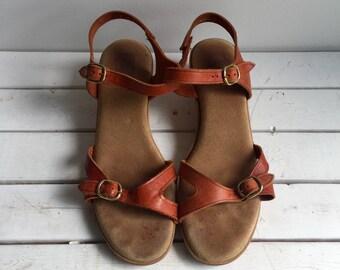 Vintage 70's Dex Leather Sandals 8
