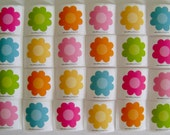 "Set of 24 Flower ""Blossoms"" Cardstock Stickers - Multiple Colors"