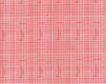 Red Grid Lines from Moda Fabric's Hello World Collection by Abi Hall