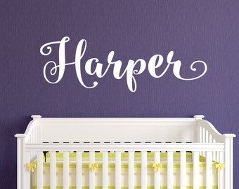 Merveilleux Girls Name Wall Decal Girls Bedroom Wall Decal Nursery Wall Decal Name & Name Wall Decals - talentneeds.com -