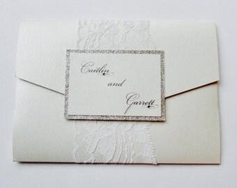 Caitlin and Garret//Pocket Wedding Invitation