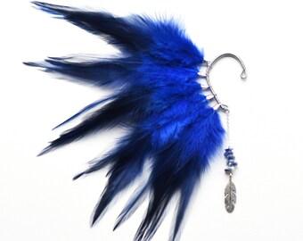 Feather Ear Cuff, Feather Earrings, Feather Ear Wrap, Festival