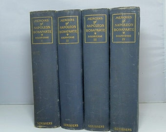 Memoirs of Napoleon Bonaparte Four Volume Set 1891 Cloth Hardcovers Illustrated Bourrienne, Louis Antoine Fauvelet Published by Scribner's