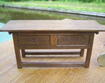 1/12th scale miniature Medieval/ tudor Counter Table.