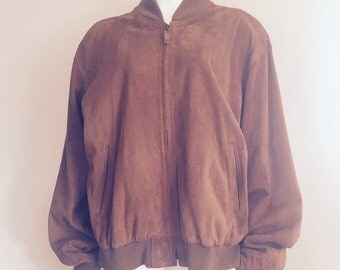 Coach / 80s Bomber Jacket / Designer Clothing / Mens Suede Jacket / Gift for Men / Made in USA