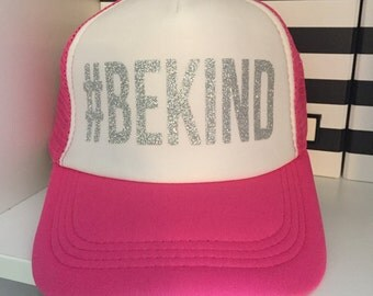 SALE!!!  #BEKIND Sparkle Trucker Hat {Ready to Ship}