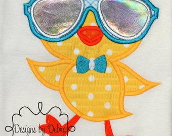cool duck/ boys cool shirt/ duck with glasses/ geek duck/ summer shirt/children/top/bow tie/duck