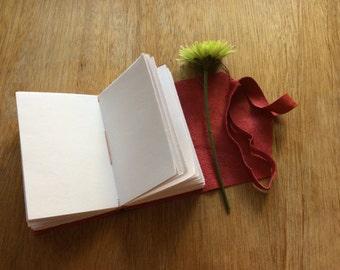 Red Leather Mini Pocket Journal-Handmade Travel Journal Gift Idea