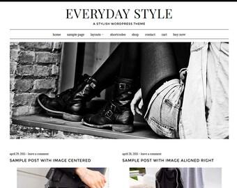 Everyday Style: Feminine WordPress Theme Built for Beginner and Intermediate Bloggers