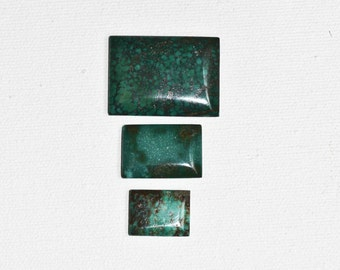 Green Turquoise Cabochon Set