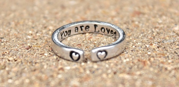 You are Loved Mantra Ring