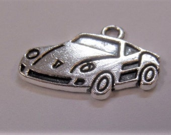 14mm. 5CT. Silver Toned Car Charms Y12