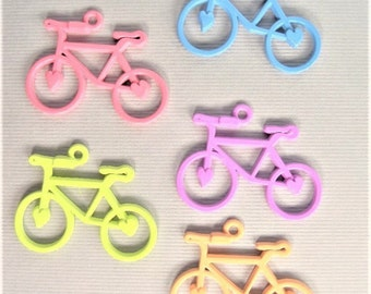 31mm. 4CT. Alloy Pendants, Bike Pendant, Bicycle Charms, Mixed Colors