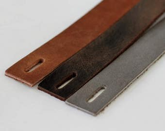 3pcs Leather Bracelet Blank, Gray Genuine Leather Strap for Bracelet , Brown  Leather Cuff  Blank