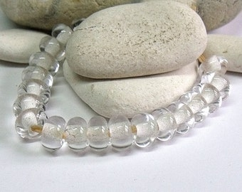 Clear, Lampwork Spacer Beads, SRA, UK