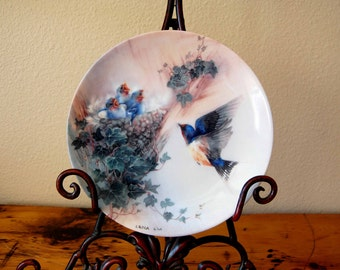 Vintage Lena Liu Cherub Chorale Collectors Plate Vintage Lena Liu Nature's Poetry Series Collectors Plate from The Eclectic Interior