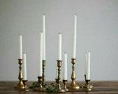 Brass Candlesticks , Brass Candle Holder , Vintage Brass