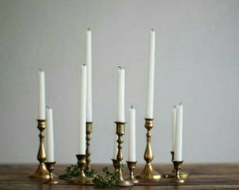 Brass Candlesticks , Brass Candle Holder , Vintage Brass