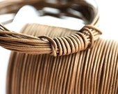 1mm Round Natural Leather cord - Camel, Light Brown - 10 feet, LC026