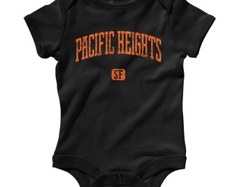 Baby One Piece - Pacific Heights San Francisco - Infant Romper - NB 6m 12m 18m 24m - Baby Shower Gift, SF Neighborhood, Pacific Heights Baby