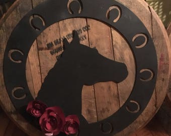 Kentucky Derby Decorative Bourbon Barrel Lid Derby Party Decoration