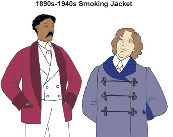 RH922 - 1880s-1940s Smoking Jacket