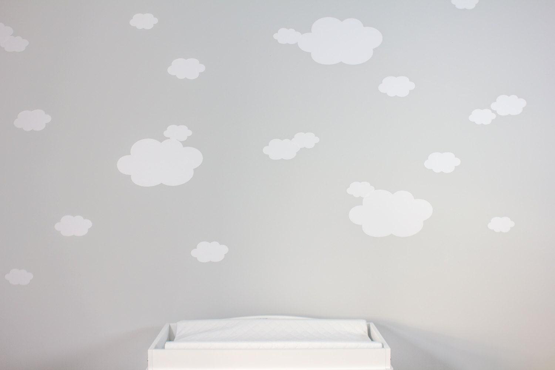 Cloud wall decals vinyl cloud wall decals nursery decor zoom amipublicfo Gallery