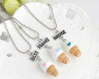 Best Friends Forever Kawaii Necklace, Ice Cream, Sweet, candy