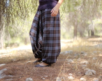 Winter Harem Pants, Squared Pants, Pregnancy Maternity Wear, Plus size Tall Women's pants, warm Drop Crotch pants, Afghani , haremshose