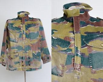 WWll Jungle Camo British Pullover Smock Military Canvas Reproduction Jacket