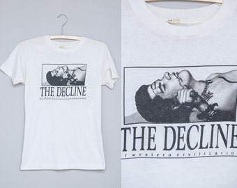 1981 RARE The Decline Of Western Civilization Promo Early Punk T Shirt